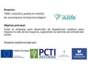 Cartel subvención i4life puesta en marcha